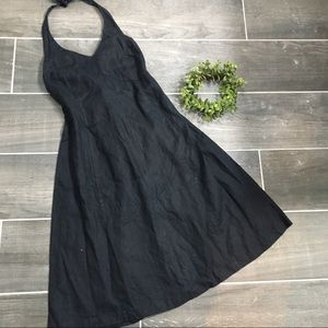 Maternity linen halter dress